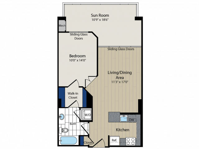 Floor Plan 2   Meridian at Courthouse Commons2