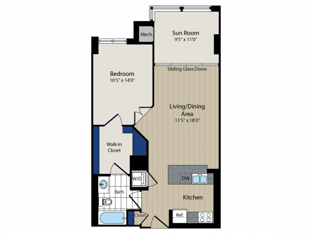 Floor Plan 5   Meridian at Courthouse Commons 2