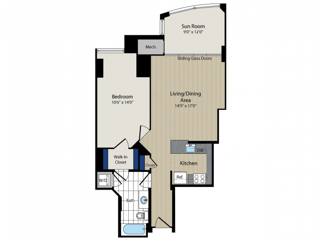 Floor Plan   Meridian at Courthouse Commons 3