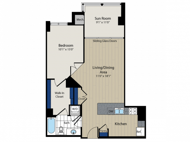 Floor Plan 2   Meridian at Courthouse Commons 3