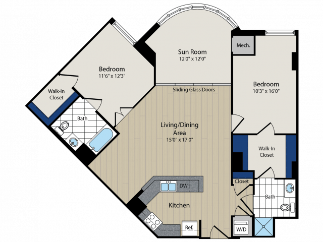 Floor Plan 6   Meridian at Courthouse Commons 2
