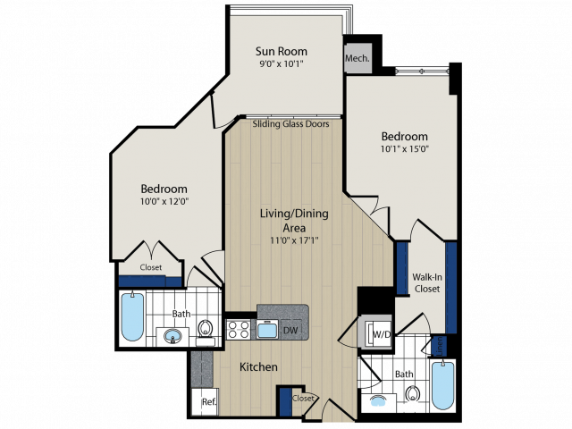 Floor Plan 5   Meridian at Courthouse Commons 3