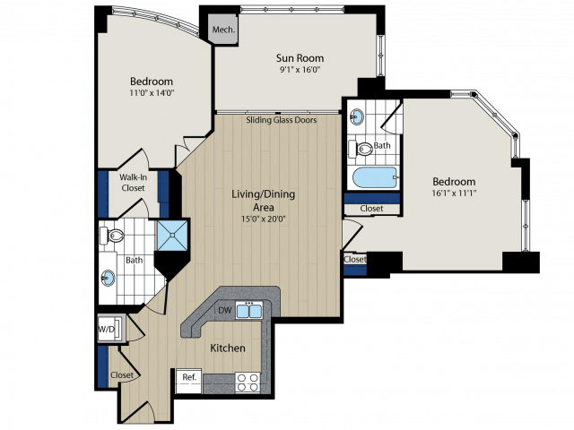 Floor Plan   Meridian at Courthouse Commons 4