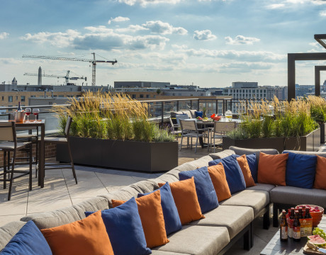 Rooftop Outdoor Lounge | Meridian at Mt Vernon Triangle | Apartments Washington DC
