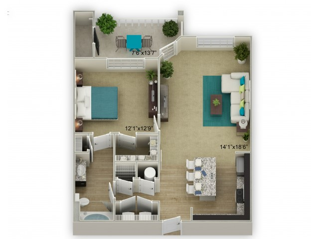 Image of The Meadowview with Porch Floor Plan