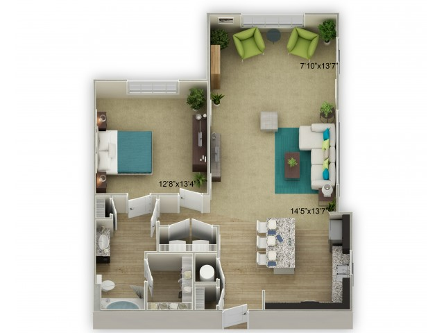 Image of The Walden with Sunroom Floor Plan