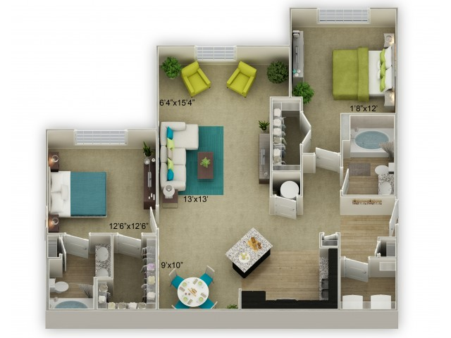 Image of The Cumberland with Sunroom Floor Plan