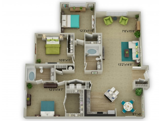 Image of The Legend with Sunroom Floor Plan