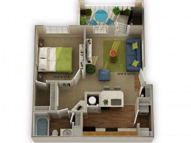 Photo of The Ridgecrest One Bedroom Floor Plan