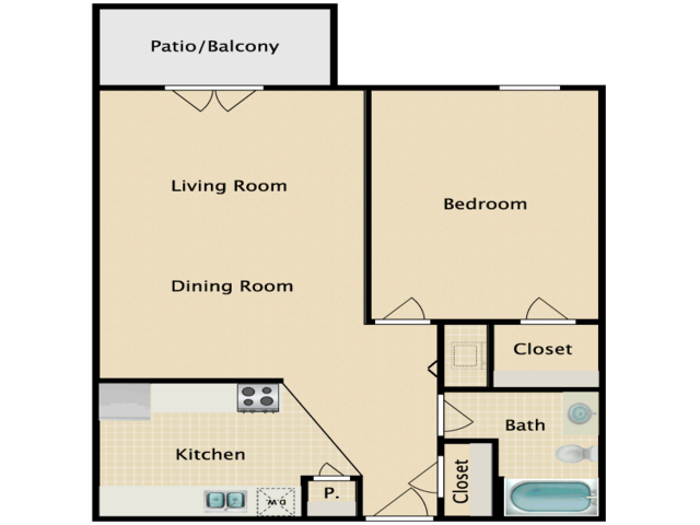 River City Landing | One Bedroom | One Bathroom