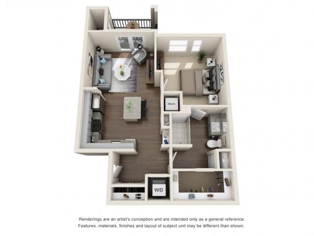 One Bedroom | 708 sqft