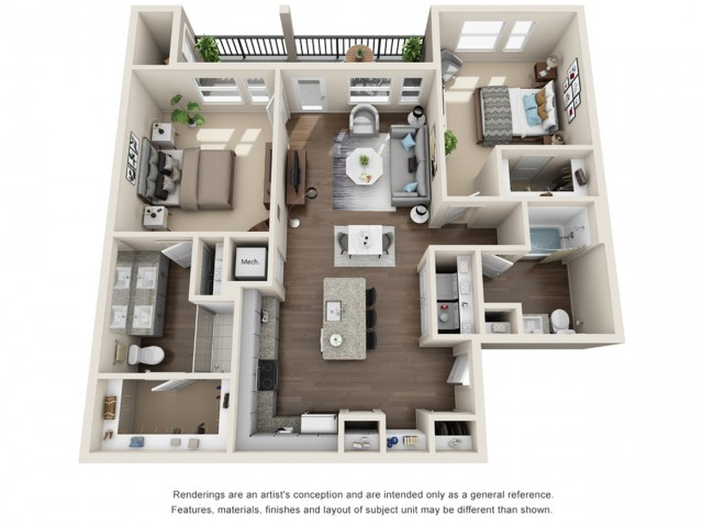 Two Bedroom | Two Bathroom | 1110 sqft