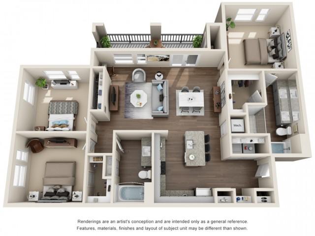 Three Bedroom | Two Bathroom | 1409 sqft
