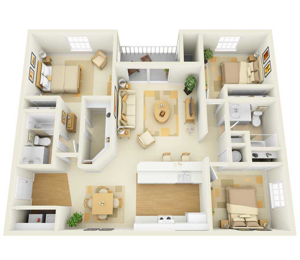 Three Bedroom | Two Bathroom | 1496 sqft