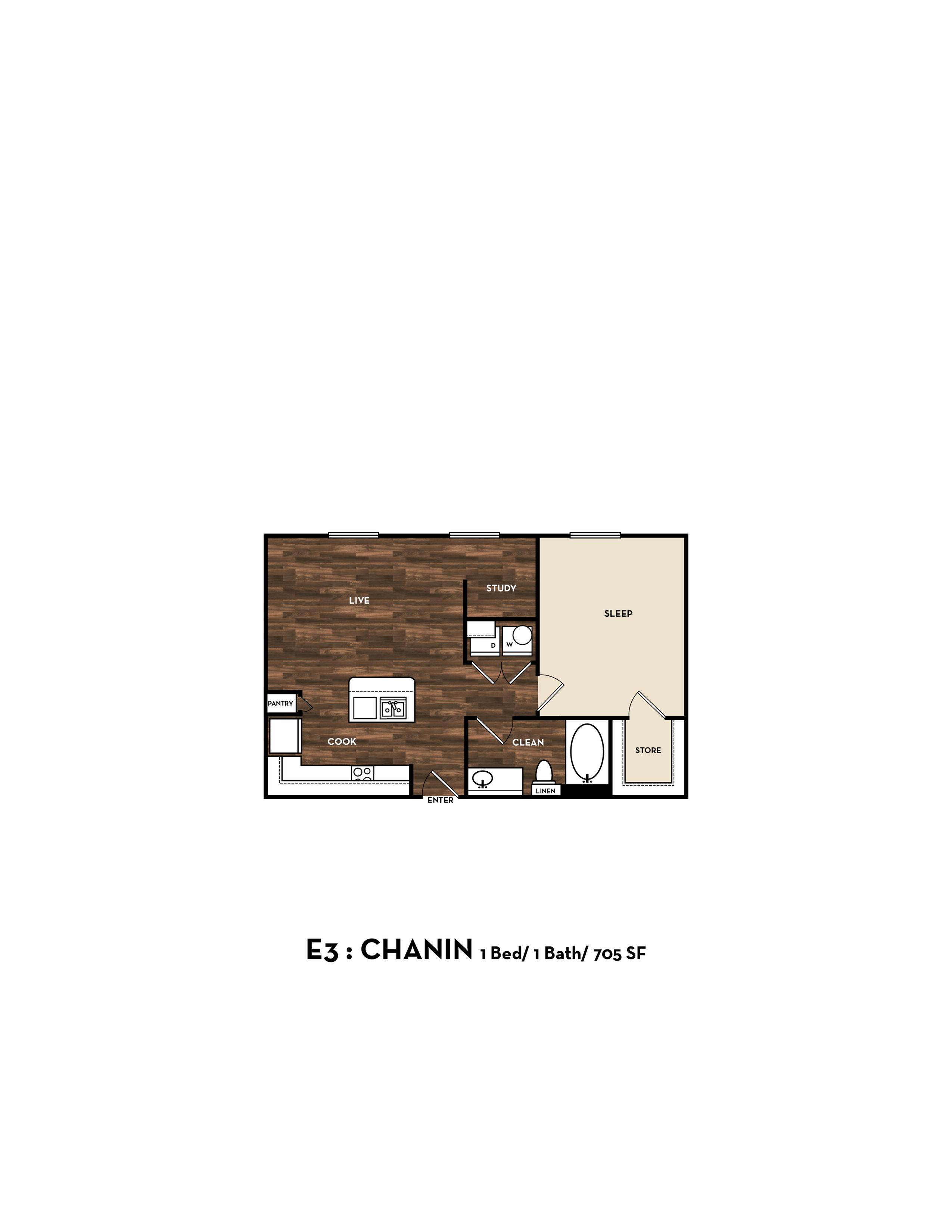 Floor Plan 3 | Luxury Apartments In San Antonio Texas | 1800 Broadway