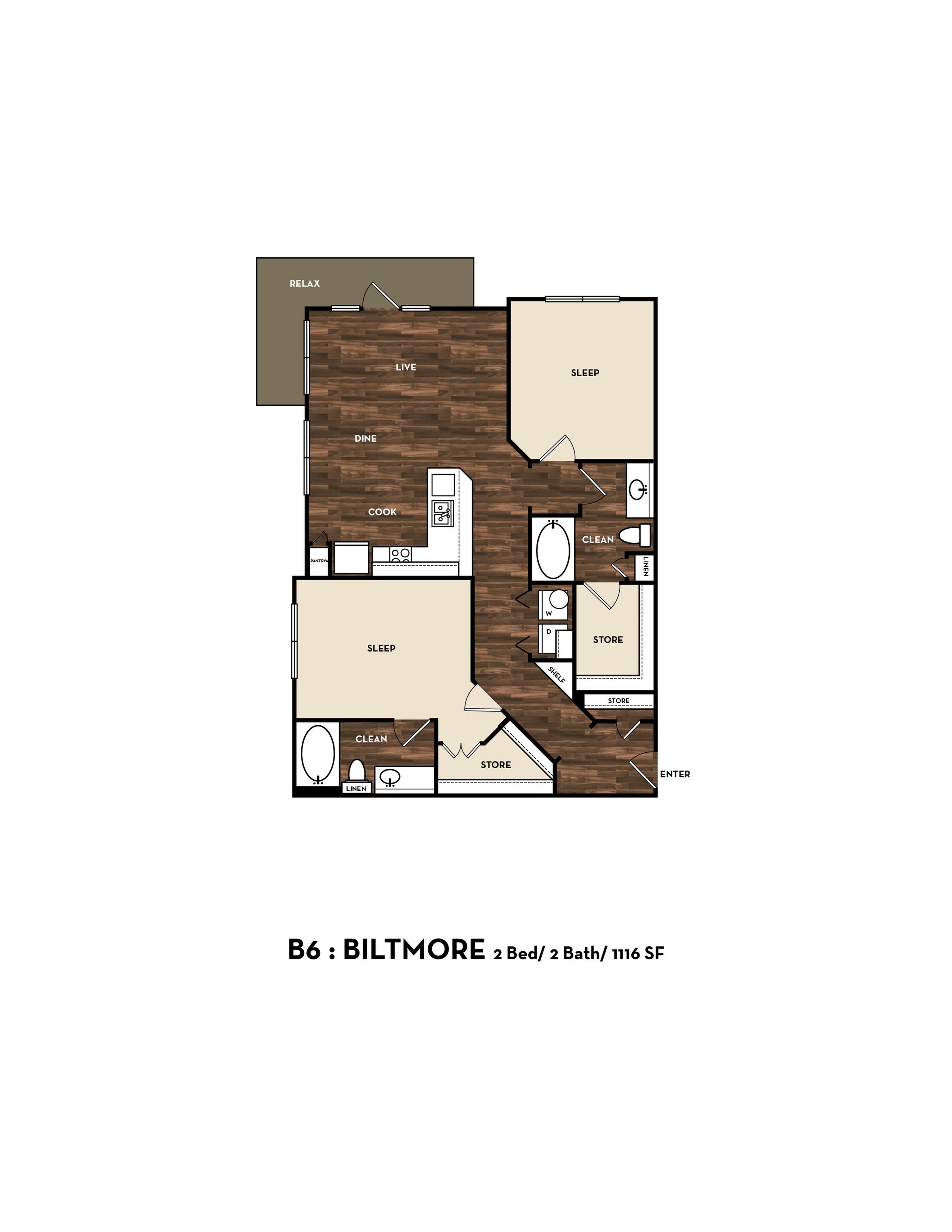 Floor Plan 9 | San Antonio Apartments | 1800 Broadway