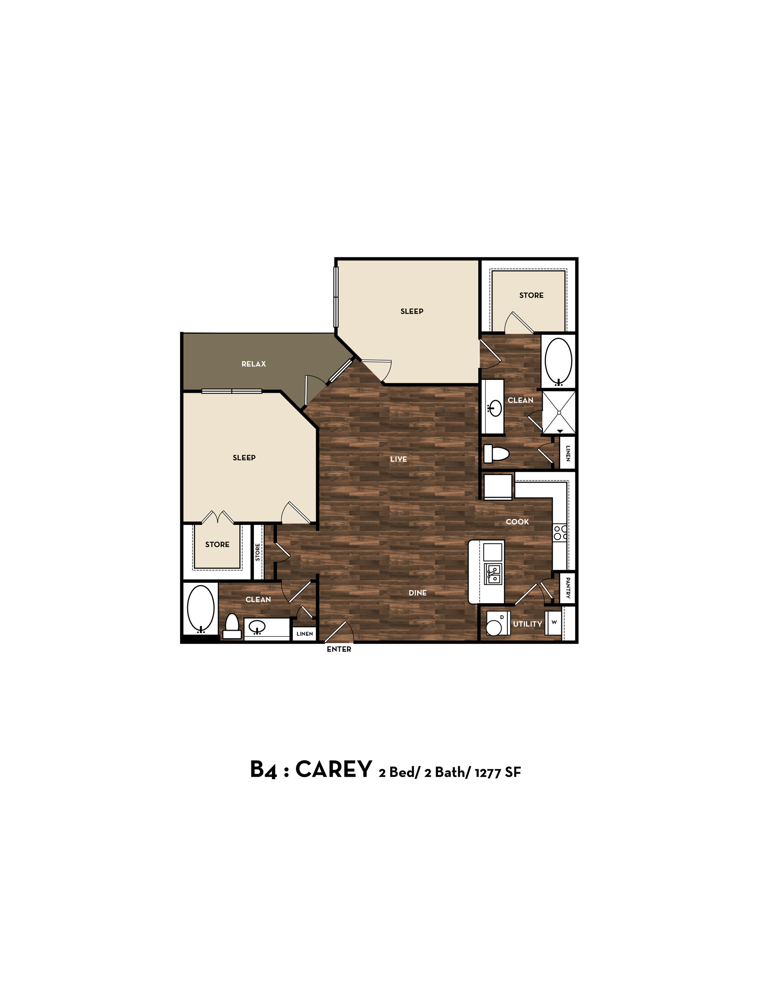 Floor Plan 11 | Luxury Apartments In San Antonio | 1800 Broadway