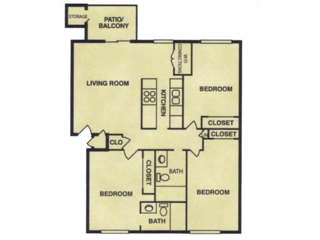 Three Bedroom Flat