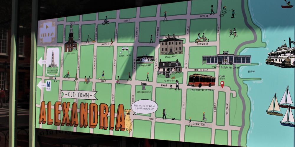 Map or Old Town Alexandria   Meridian at Braddock Station   Alexandria VA Apartments