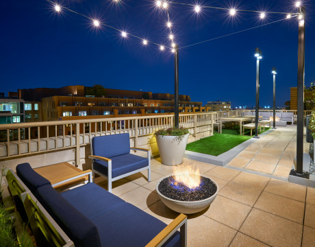 Newly Renovated Rooftop Decks With Fire Pits and BBQ Stations   Meridian at Gallery Place   Apartments Washington DC