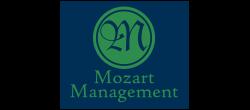 Green and Blue Mozart Management Medallion Logo