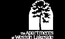 weston lakeside apartments white logo