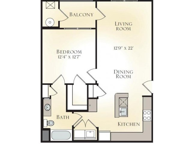 MAGNOLIA A2 - ONE BEDROOM ONE BATH