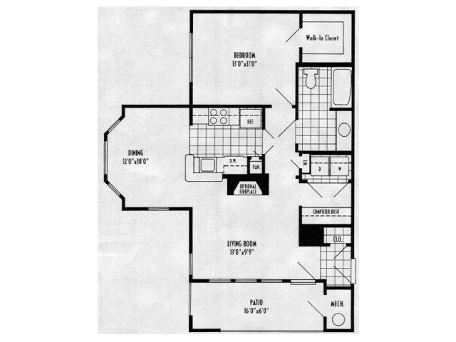 Camellia - 1 bed, 1 bath 776 square feet