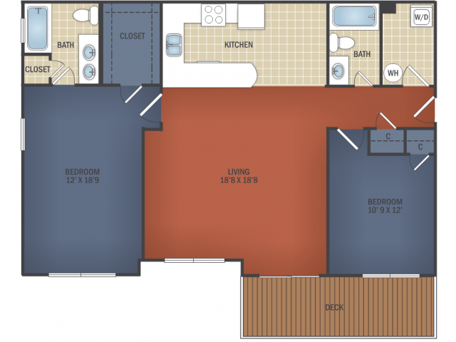 Two Bedroom Flat with Attached Garage
