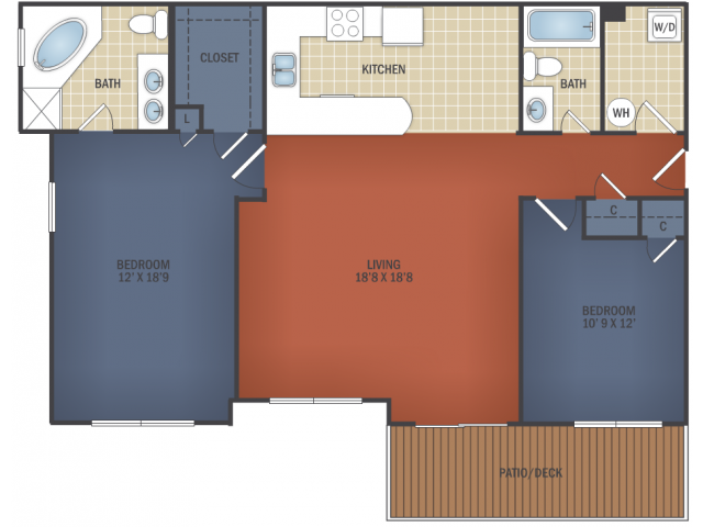 Perfect Size Two Bedroom