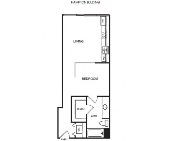 E3H soft one bedroom, one bath with large closet space