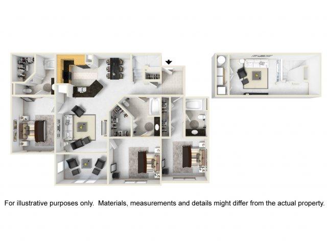Oxford Loft 3BR/3BA 1758 square feet