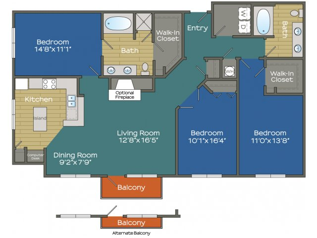 Three Bedroom two bathroom Apartment in Buckhead