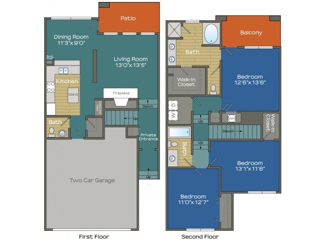 Three Bedroom two an a half bathroom Apartment in Buckhead