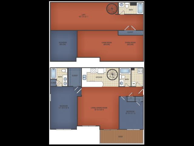 Three Bedroom Senior Loft