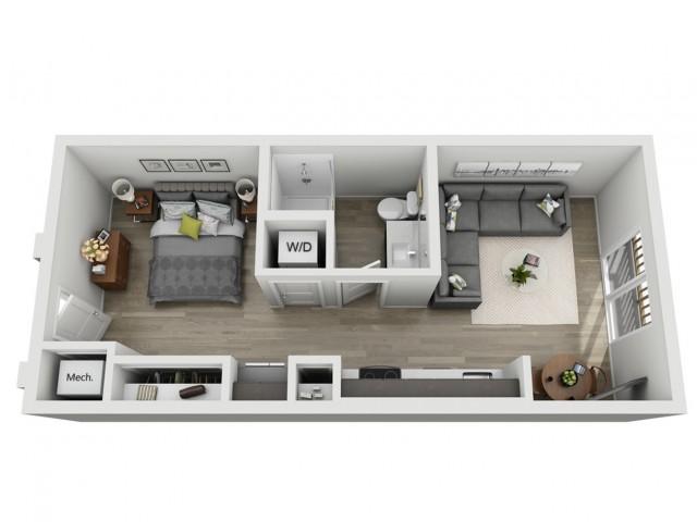 Studio Apartment | One Bedroom One Bath