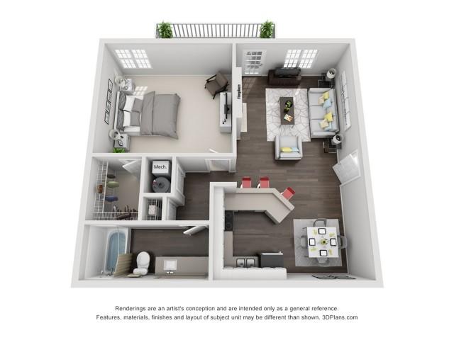 1 Bedroom 1 Bath Apartment Home