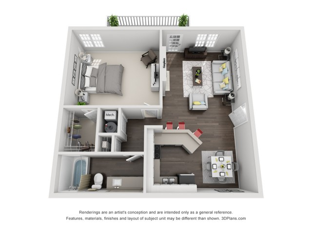 1 Bedroom 1 Bath Renovated Apartment Home
