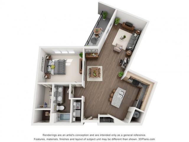 Karl 1004 Square Feet One Bedroom | One Bathroom