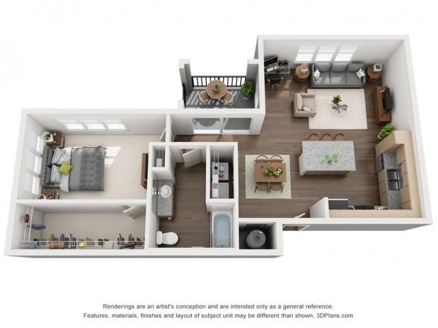 Oscar 835 Square Feet One Bedroom | One Bathroom