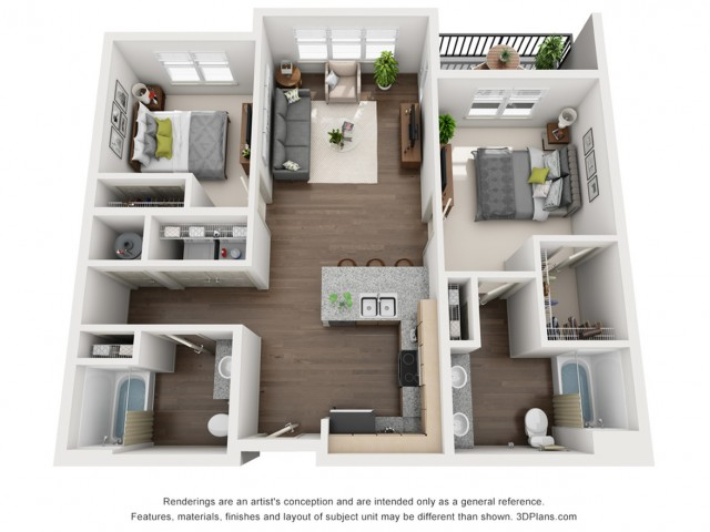 Vera Loft 936 Square Feet Two Bedroom | Two Bathroom