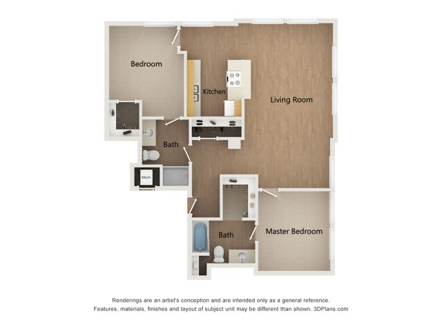 B2 Two Bedroom Layout