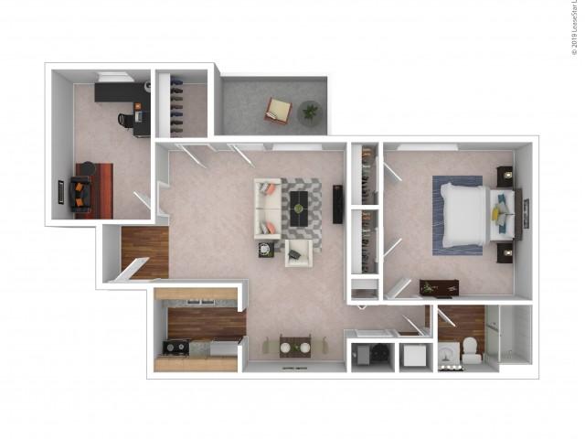 Ashland - 1 Bedroom - 1 Bath - Optional Den