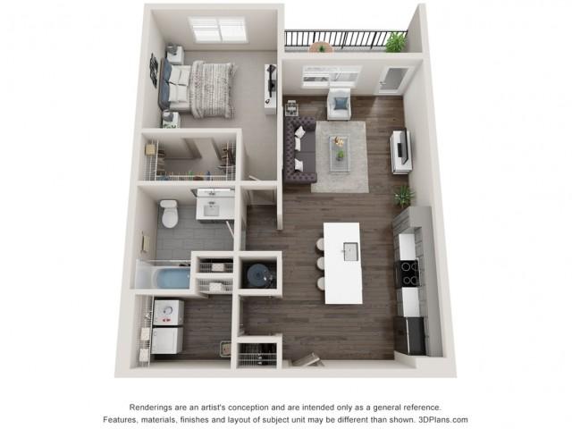 Maren - One Bedroom | One Bathroom 821 sq feet