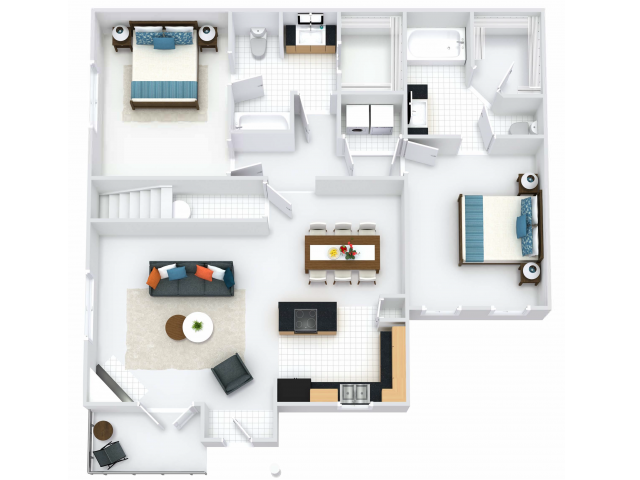 Dorchester 2BR/2BA 1220 square feet