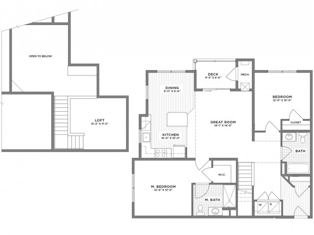 2 Bedroom Floor Plan | Weymouth MA Apartments For Rent | The Gradient