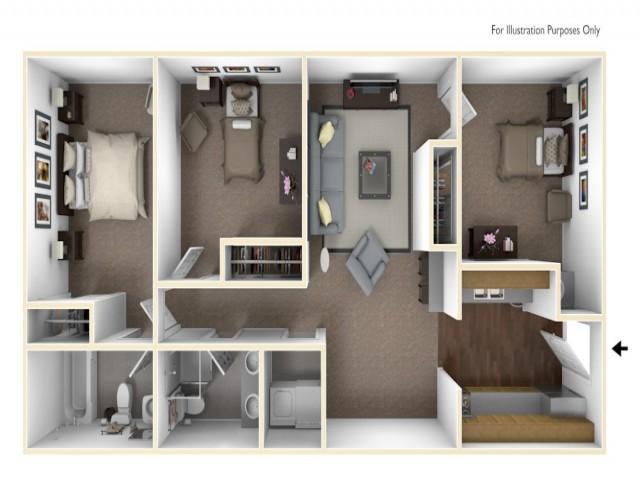 3 x 2 floor plan