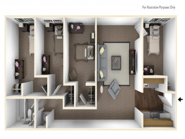 4 x 1 floor plan