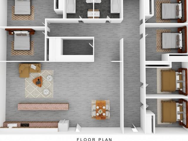 6 x 2 floor plan