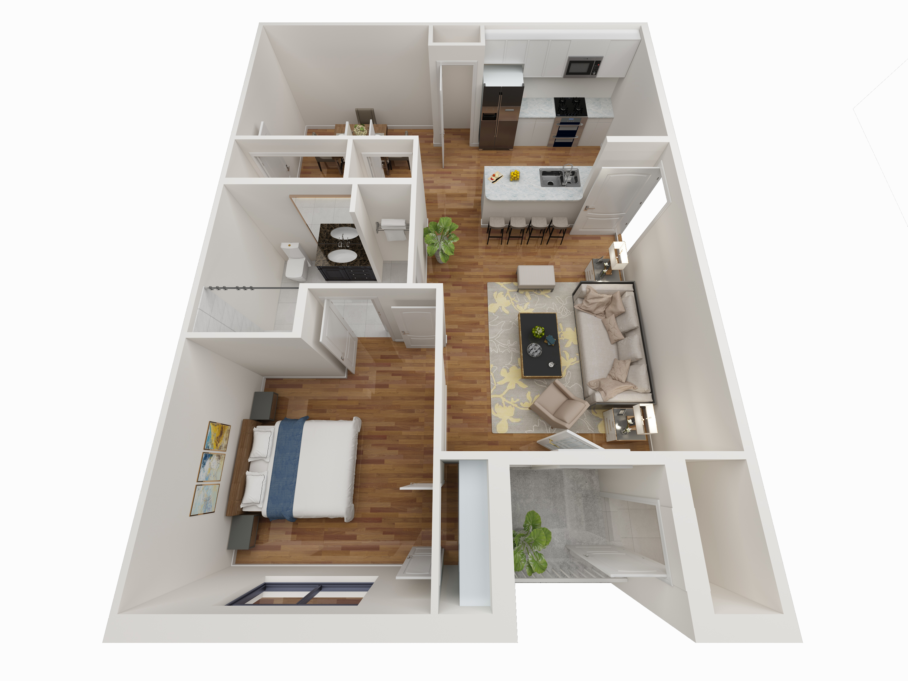 1 Bedroom Floor Plan - Avoca Apartments in Louisville, KY